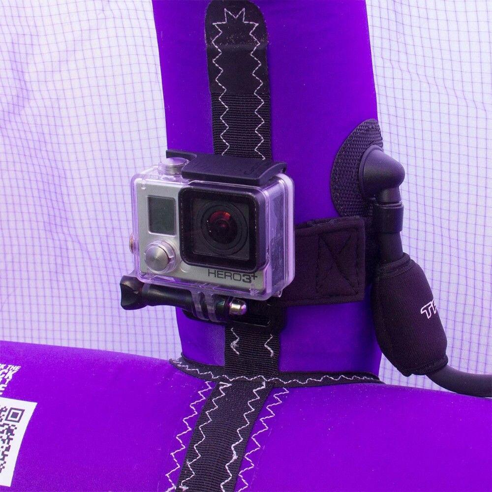 Cerf-volant Strut Mount et Cerf-Volant Ligne Mât Boom Mont pour Gopro Hero 6 5 4 3 + SJCAM Caméra pour le Kitesurf Planche À Voile Wakeboard