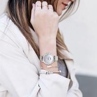 Watch Women 2018 New Fashion Waterproof Rose Gold Silver Stainless Steel Watch Rhinestone moda mujer Women Bracelet Watch