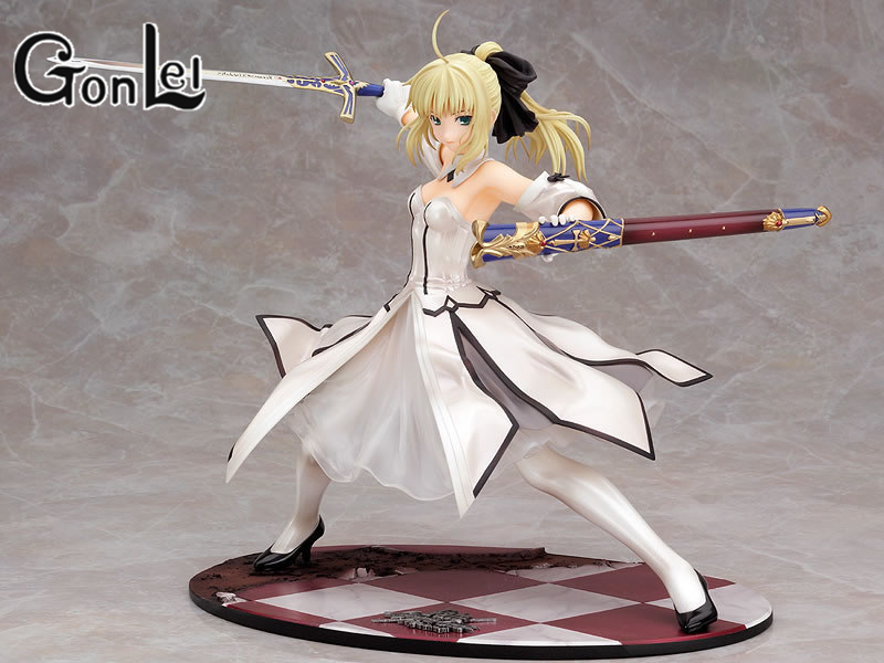 GonLeI New 21 cm Sword white Sebastian Night of Destiny fate Saber Lily Golden Victory PVC action figure model toys bloodlines the golden lily