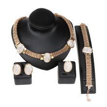 Ювелирные наборы стразы из Дубая золотые брендовые нигерийские