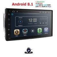 Quad Core autoradio 2 din android 8.1 radio gps navigation car dvd player 2din steering wheel Rear View Camera WIFI 4G 1G RAM BT