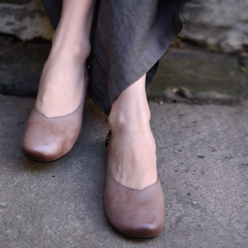 D'origine Véritable De Black Bouche 1826 Printemps Profonde En À Main apricot La Souple 2019 Plat red Peu Artmu Cuir Femmes Chaussures Semelle VjSUzpMqLG