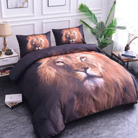 ZEIMON Luxury Animal 3D HD Printed Lion Pattern Comforter Home Textiles Queen Size Duvet Cover+Pillowcase Bedroom Decoration