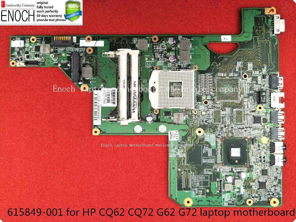615849-001 for HP CQ62 CQ72 G62 G72 laptop motherboard integrated 010140U00-388-G HM55 MAIN BOARD   store No.191 for hp g62 g72 laptop motherboard with graphics 615848 001 01013y000 388 g