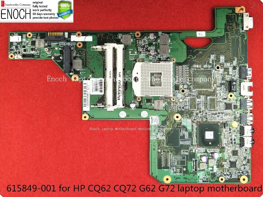 все цены на  615849-001 for HP CQ62 CQ72 G62 G72 laptop motherboard integrated 010140U00-388-G HM55 MAIN BOARD   store No.191  онлайн