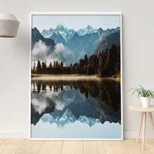 Mountain Lake Reflection Forest Wall Art Canvas Painting Nordic Posters And Prints Decoration Pictures For Living Room Decor