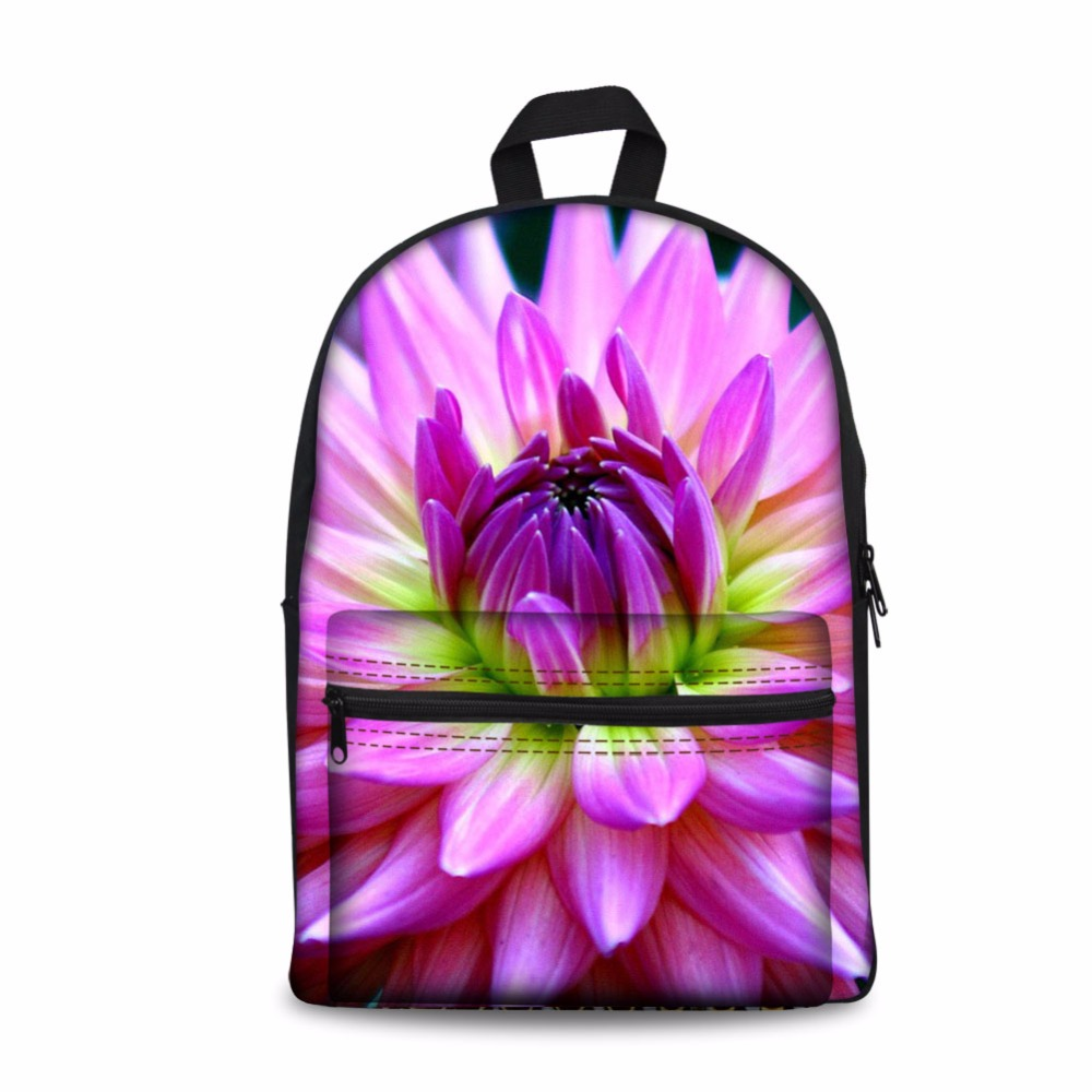 Noisydesigns 3D Flower Printed Kids School Bags Girls Teenage Floral Student Schoolbag Casual Canvas Children Book Bag 2018