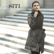 2015 women down warm long gift coat breasted  jacket  parka zipper fashion new winter outerwear suit collar new plus size thick