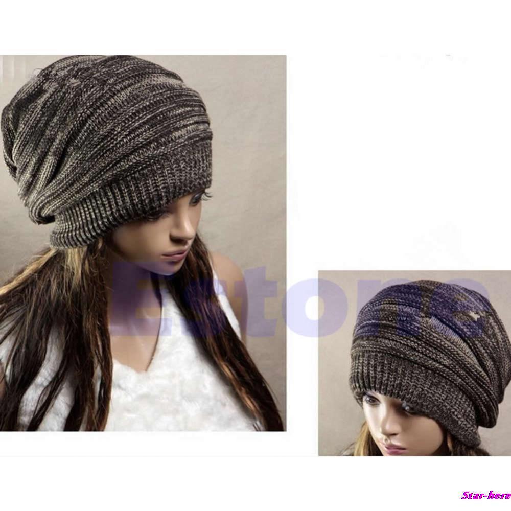 Hot Sale Men Women's Knit Baggy Beanie Beret Hat Unisex Oversized Winter Warm Cap