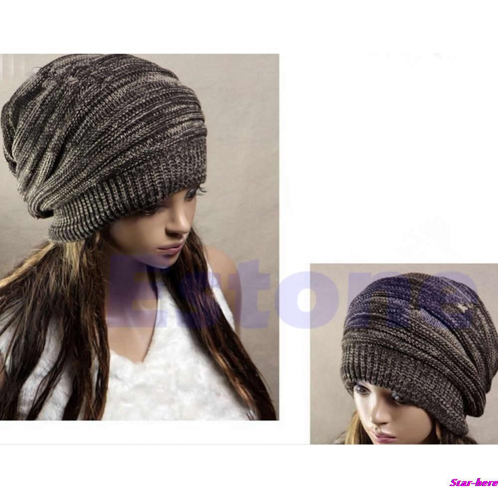 Hot Sale Men Women's Knit Baggy Beanie Beret Hat Unisex Oversized Winter Warm Cap