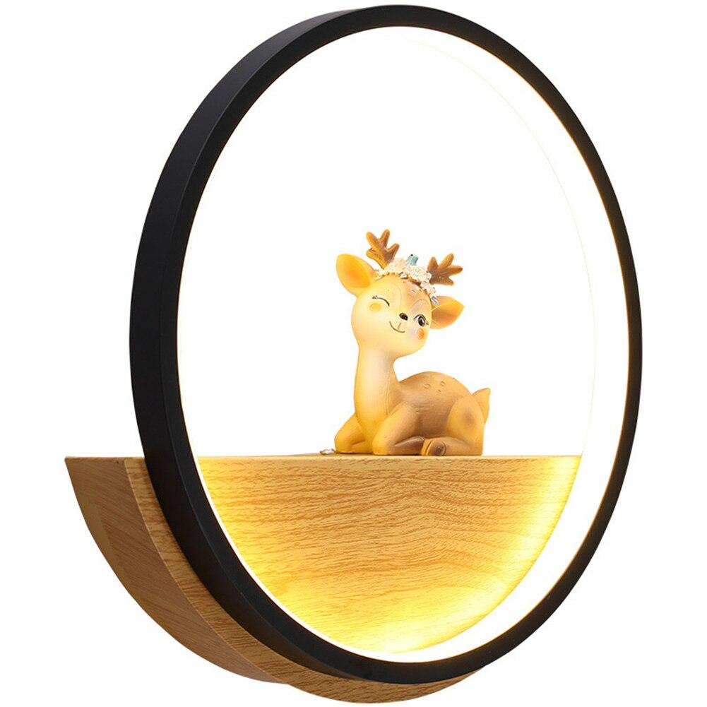 Simple Modern Illumination Wall Light Deers Circle Room Wall Lamp Living Room Bedroom Creative Animal Deer Lighting LB88