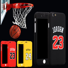 360 Full Body Basketball Sports Case Cover for fundas iphone 7 8 6s plus 6plus Kobe Bryant Curry Case Michael Jordan air 23 Capa(China)