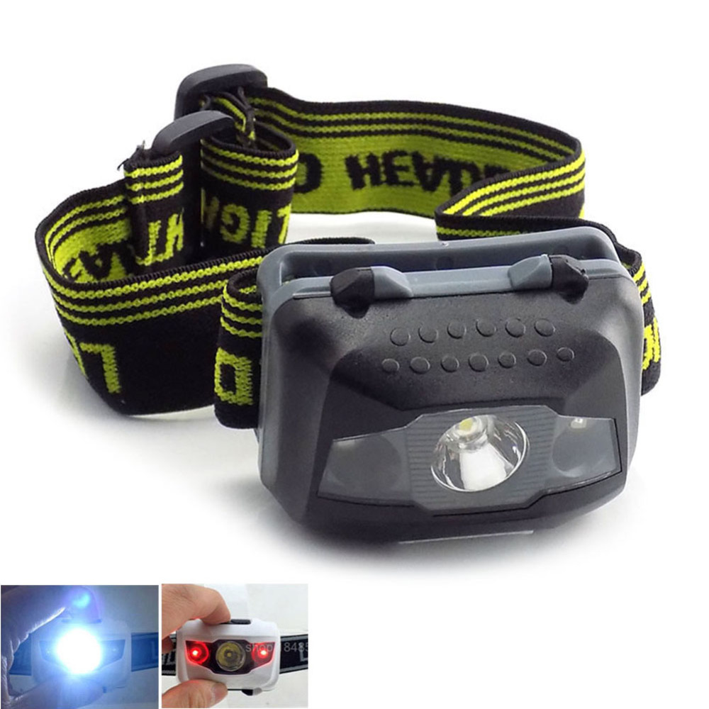 4 Mod Mini Headlight Bright Head Light 3 Leds Frontal Lampe Torch Camping Fishing Head Lamp Headlamp Flashlight Aaa Battery