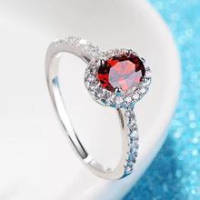 T767 925 пробы серебро для женщин цвет циркония камень ювелирные изделия, обручальное кольцо