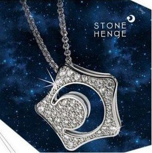 star moon AAAA+ rhinestones crystal necklaceweater chain fashion jewelry dropshipping quality trendy women girl TV gifts