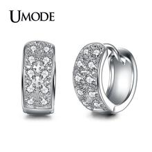 UMODE 2019 New Fashion Round Loop Huggie Hoop Earring for Women Tiny Paved CZ Jewelry Pendientes Aretes de Mujer Brincos AUE0016