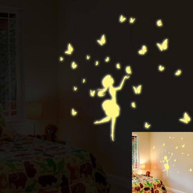 Bedroom Fluorescent Glow Dark Stars Wall Stickers Photo Wall Mural