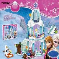 New Arrival Elsa S Sparkling Ice Castle Anna Olaf Princess Set Building Blocks Set Model Bricks
