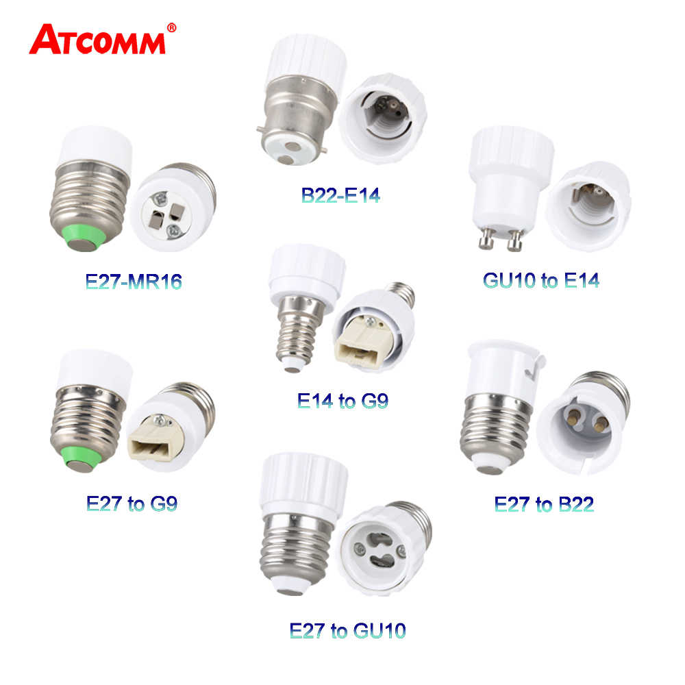 E27 E14 B22 LED Lamp Converter Holder to E12 E17 GU10 G9 LED Light Base Socket E27 to 2 E27 Splitter Whole Category Choices