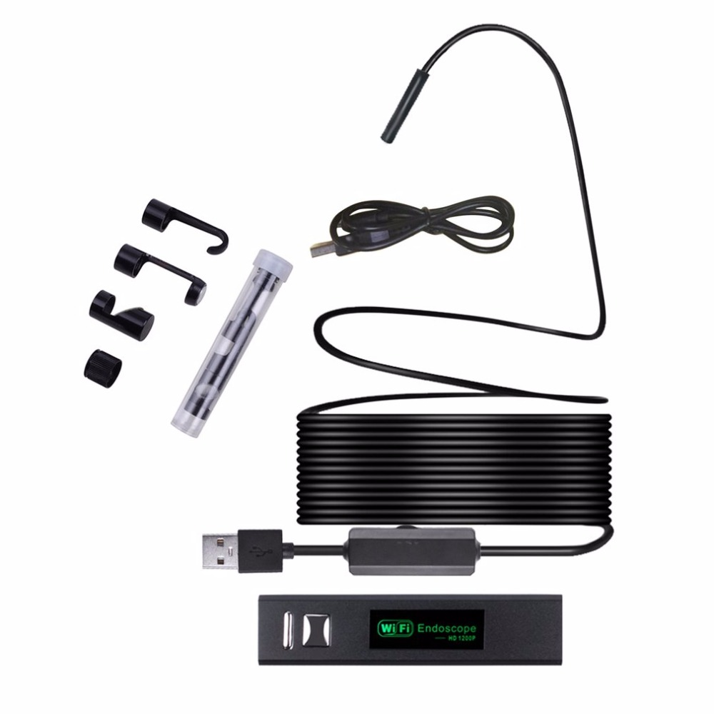 HD 1200P Waterproof WIFI Inspection Mini endoscope camera Borescope Snake Video Cam Built In Battery F150 For Android Tablet PC gakaki 8mm lens wifi endoscope camera for iphone 2m snake tube usb pipe inspection endoskop borescope for android tablet pc cam