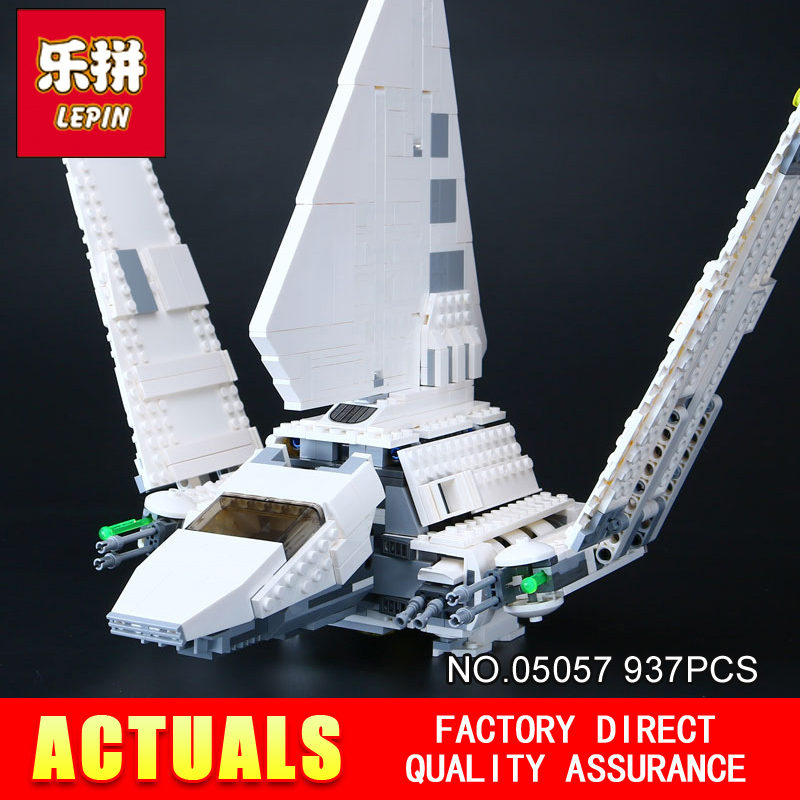 LEPIN 05057 937Pcs Stunning SelfLocking Shuttle Tydirium Building Blocks Bricks Assembled Toy Compatible with 75094 lepin 05057 937pcs star moc series war imperial shuttle tydirium building blocks bricks assembled children toys compatible 75094