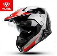YOHE Cross Country Motorcycle Helmets YH 628A Double Lens Motorcross Racing Helmets Winter Off Road Motorbike