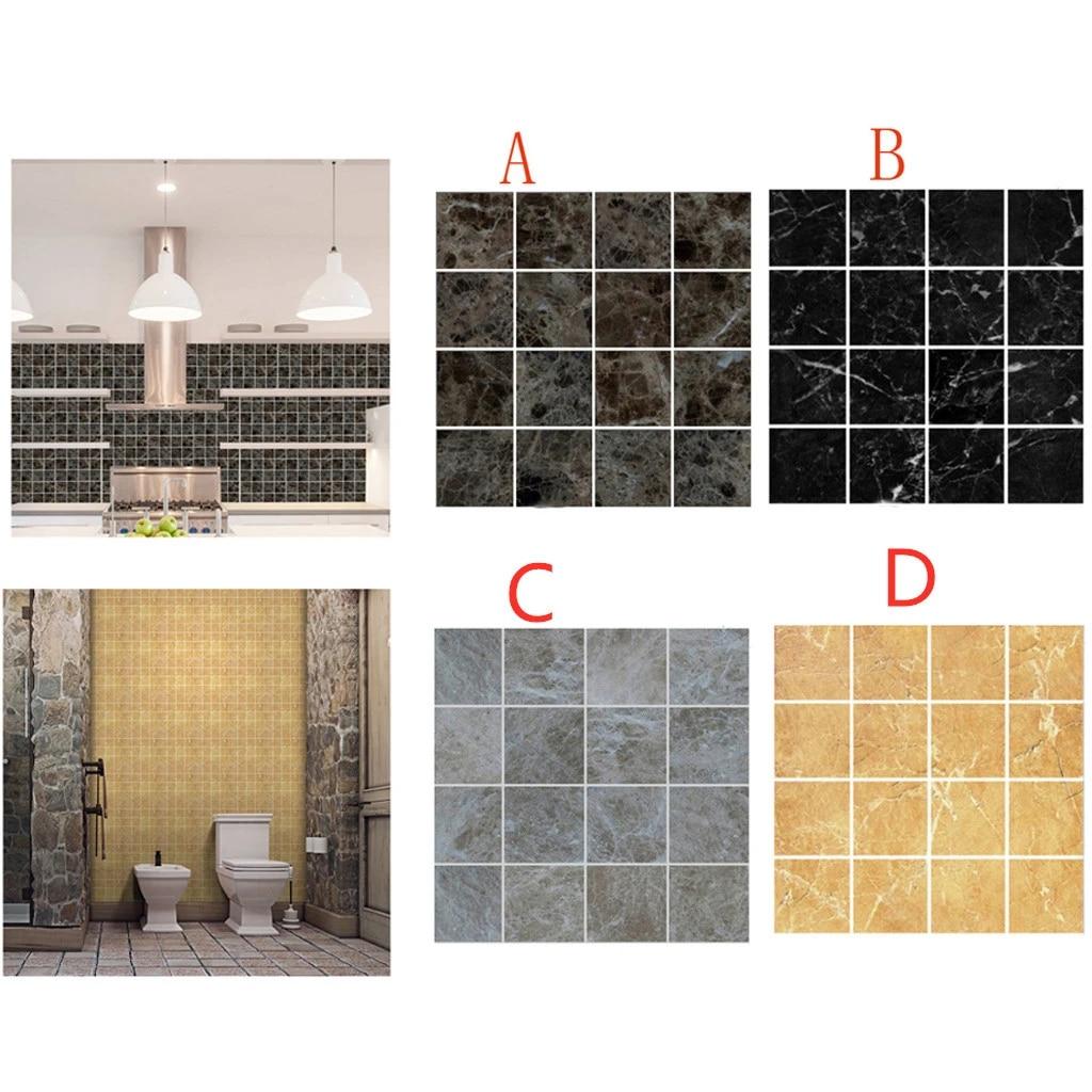 diy 3d self adhesive mosaic tile sticker kitchen backsplash bathroom wall tile stickers decor waterproof peel stick pvc tiles