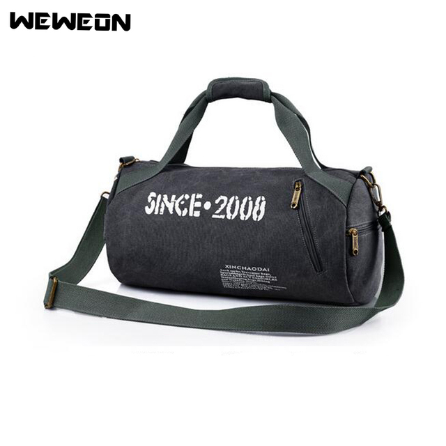 Canvas Gym Bag Camping Training Sports Duffle Bag for Men and Women Fitness  Bag Women Sport Training Tote Travel Handbag 7369539b2c