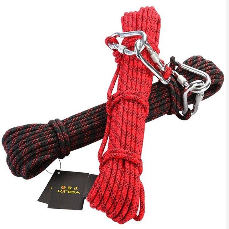 Страховочный трос 8 мм 10 м Открытый Пеший Туризм Альпинизм спасения оборудования поле выживания Открытый веревка Wilderness веревки выживания