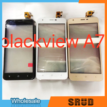 100% tested lcd monitor for blackview a7 a7 pro lcd screen blackview a7 mobile phone lcd screen free shipping 10Pcs/Lot Black/White/Gold Color Touch Glass For BlackView A7 LCD touch screen digitizer sensor glass with Tool