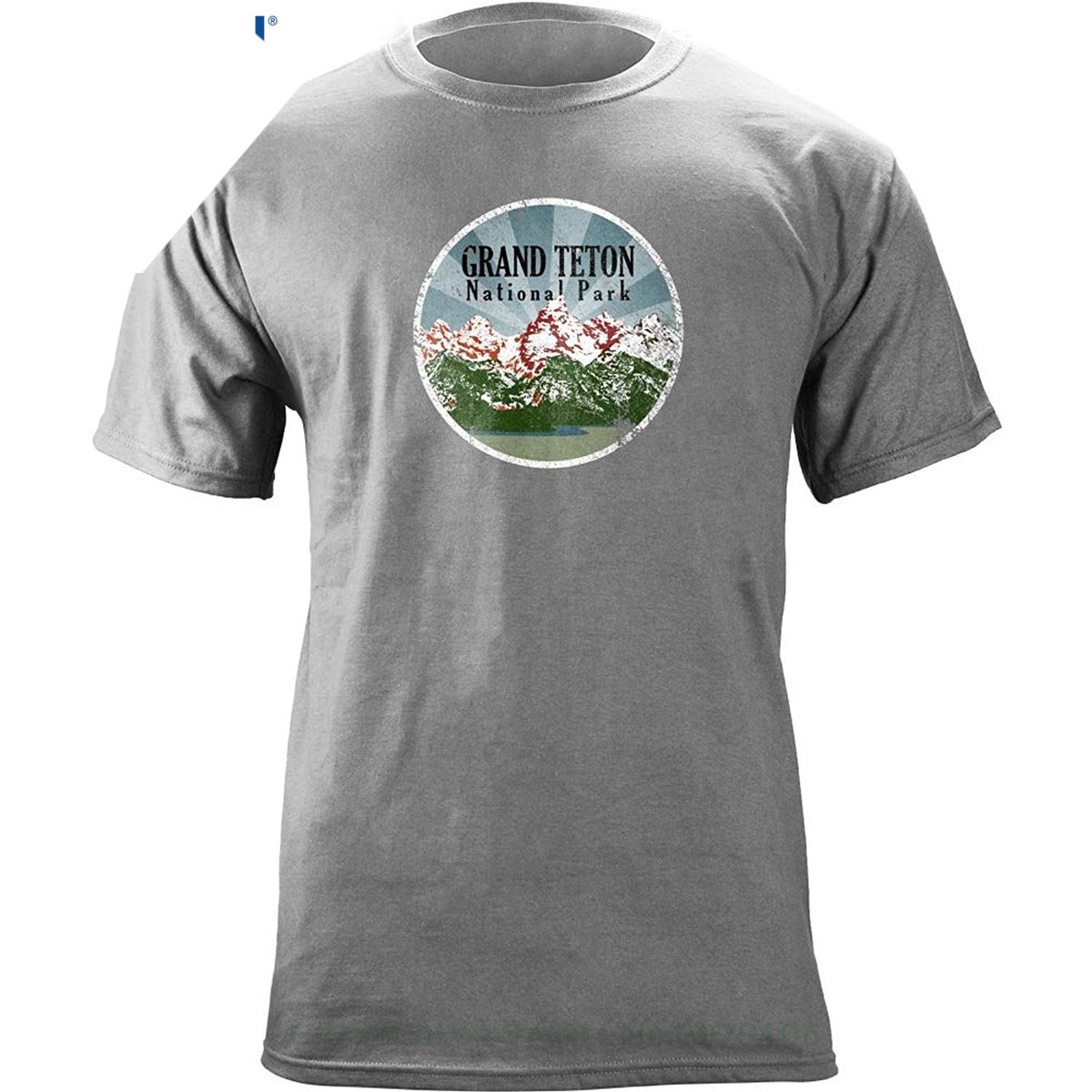 Sleeve T Shirt Summer Men Tee Tops Clothing Vintage Grand Teton National Park 80 39 s T shirt Cotton Casual in T Shirts from Men 39 s Clothing