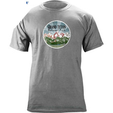 Sleeve T Shirt Summer Men Tee Tops Clothing Vintage Grand Teton National Park 80s T-shirt Cotton  Casual