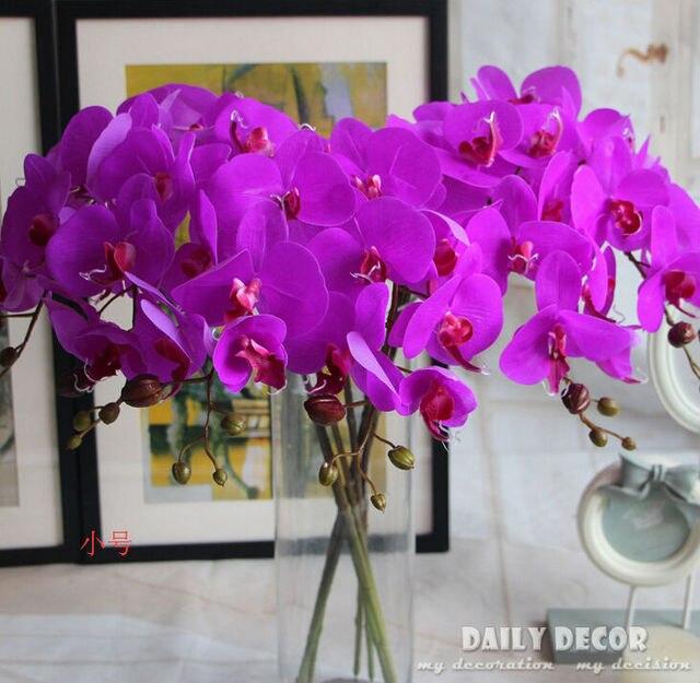 Orchideen Kopf 75 cm echten hauch hohe simulation 7 kopf künstliche