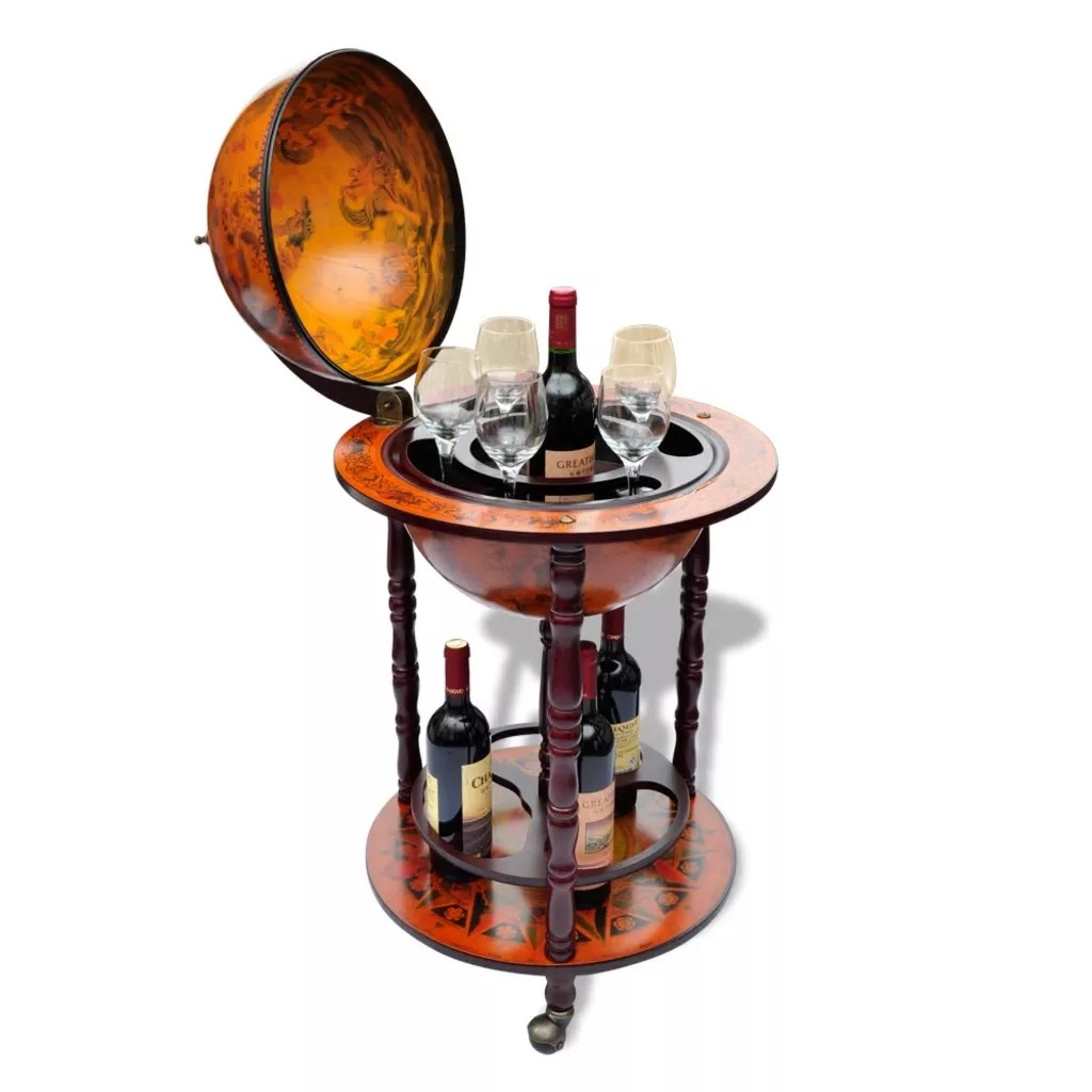 VidaXL Elegant Bar Globe Wine Bracket Storing Multiple Bottles And Glasses Home Kitchen Bar Accessories Wine Holder Supporter