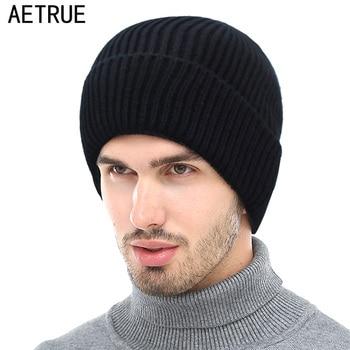 Aetrue зимние Skullies шапочки для мужчин зимние шапки для для