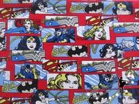 100x146cm Hero Wonder Woman Batman Supermancotton Fabric Organic Patchwork Fabric For Sewing DIY Clothing Fabrics Home