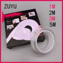 ZUYU 1/2/3/5m Reusable Double-Sided Nano Traceless Tape Removable Sticker Washable
