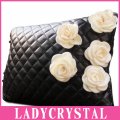 Ladycrystal Car Tournure Lumbar Pillow Health Waist Support Cushion Car Dual Obsidian Flowers Car Waist Leather Pillow Girls