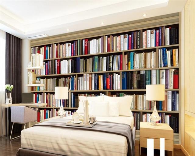 Tapete Bücherregal beibehang benutzerdefinierte tapete bücherregal continental
