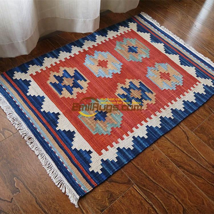 Floor Carpet Oriental Weave With Paragraph Scandinavian Style Hand Woven Wool Carpets Ji Limu Kilim Rug Tapestry Gc137 41yg4 In From Home Garden On