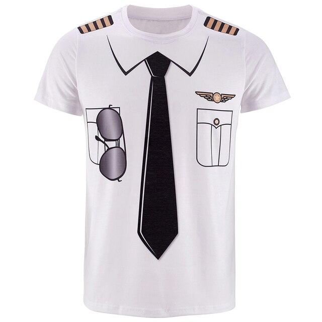 Police Pilot Pirate Tuxedo Prisoner 3D Funny T Shirt15