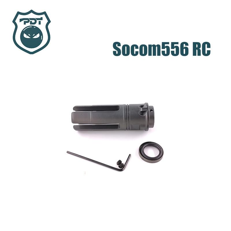 14MM CCW Thread Steel Metal Socom 556 RC Flash Hider NO Function Muzzle Device For Water Gel Ball Blaster Airsoft  AEG