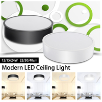 12 15 24 W Ultra Thin LED Ceiling Light Panel Down Lighting Modern Ceiling Lamp Surface