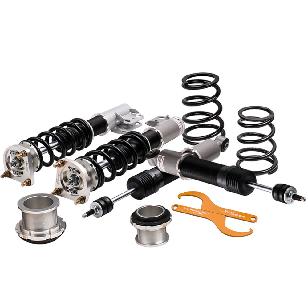 Coilovers Suspension Kits for 1999 Ford Mustang 4th 24 Ways Adjust Damper Strut Spring Suspensions Kits Coilover 1994 2004 Grey