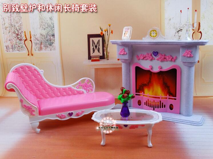 Livraison gratuite fille en plastique anniversaire Play Set meubles - Poupées et accessoires - Photo 3