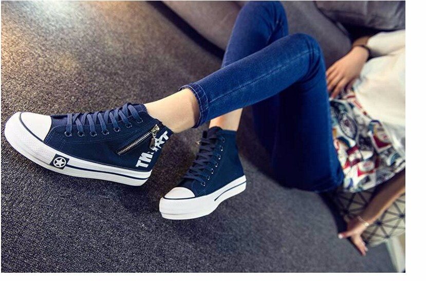 Free Shipping Spring and Autumn Men Canvas Shoes High Quality Fashion Casual Shoes Low Top Brand Single Shoes Thick Sole 7583 -  -  -  -  -  -  (2)