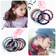 55 Pcs/Pack 10 Styles Cute Colourful Girl Elastic Hair Bands Ponytail Holder Baby Rubber Band Scrunchies Kids Accessories