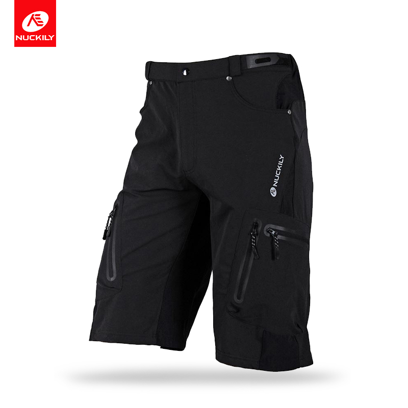 NUCKILY Summer Cycling Shorts Men BTB Shorts With Cargo Bermuda Design Dtrech Bicycle Tights Bike Wear NS357 nuckily ns357 men s quick dry outdoor cycling short pants black m