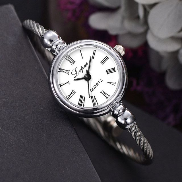 Bracelet Watches Female Stainless Steel Luxury Wristwatch Quartz Watches Gift