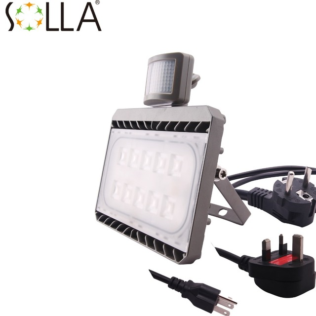 cree led flood light with sensor waterproof ip65 30w 50w ac100 240v